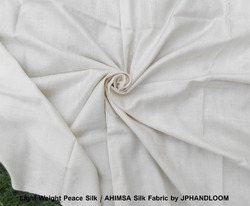 Organic Peace Silk White Fabric