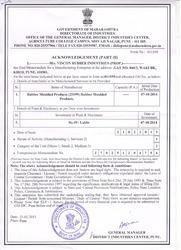 Acknowledgement of memorandum
