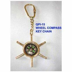 MKI Polish Wheel Compass Keyring, Packaging Type: Polybag