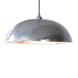 Stainless Steel Hammered Pendant Light