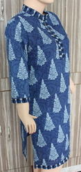 Indigo Blue Print Cotton Kurti