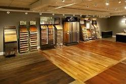 Showroom wooden flooring