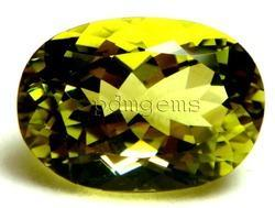 Lemon Quartz Green Gold Oval Gemstone