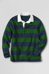 Mens Rugby Polo Shirt With Woven Collar