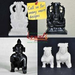 Marbel White & Black Marble Statues, Size/Dimension: 2.5 Inch, Size: 2.5 & More