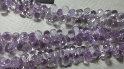 Pink Amethyst Faceted Tear Drops Beads