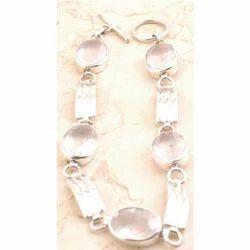 Sparkling Rose Quartz Bracelet in 925 Sterling Silver