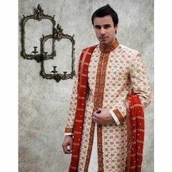 Single Border Embroidered Sherwani