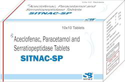 Aceclofenac, Paracetamol And Serratiopeptidase Tablets