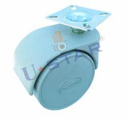 Gray Twin Wheel Caster