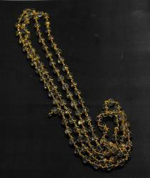 Crystal Mala In Gold Capping