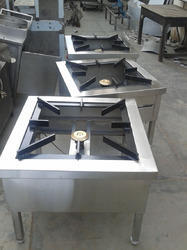 Stainless Steel Single Burner Gas Range, One