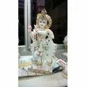 White Stone Krishna Statue