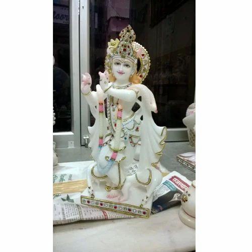 White Stone Krishna Statue At Rs 45000 Piece Krishna Statue