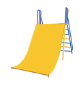 Metal Wide Slide Playground Equipment