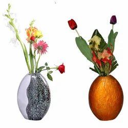 Enameled Flower Vase