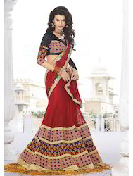 Angellic Red Embroidered Lehenga Choli