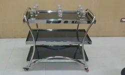 Three Tier Glass Trolley