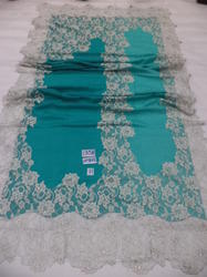 Fine Merino Wool With Indonesian Heavy Lace Shawl