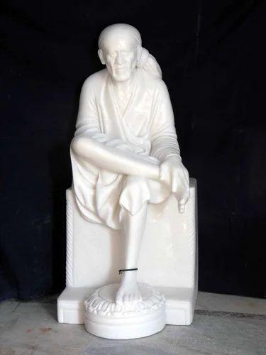 Marble Sai Baba Statue Carved Sai Baba Statue