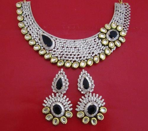 3c9642662ca749 Bridal Heavy Necklace Set at Rs 10520 /piece | Bridal Jewelry Sets ...