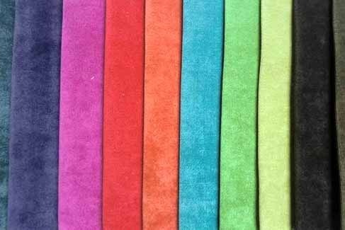 Cotton Multicolor Dyed Velvet Fabrics, For Garment, GSM: 200-300