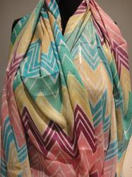 Printed Polyester Viscose Scarves