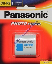 Panasonic CRP2 6V Lithium Photo Batteries