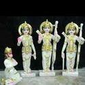 Ram Darbar Painted Marble Statue