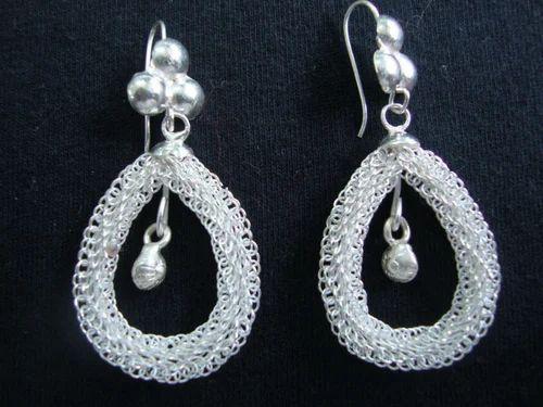 f61d68499acad6 Earrings, Silver Filigree Earings | Naya Sadak, Cuttack | Radha Jewellers |  ID: 4314604755