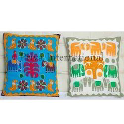 Applique Embroidery Pillow Cover
