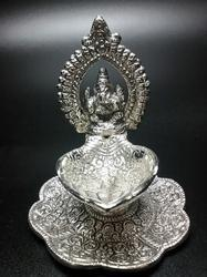 Antique Ganesha Lamp With Stand