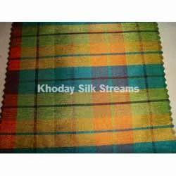 Silk Checks Fabric