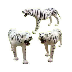 Handmade Leather White Tiger