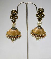 Quilled Jhumka Handmade Jewellery