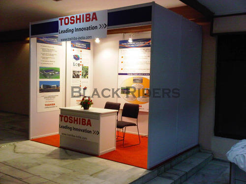 Exhibition Stall On Rent : Prefabricated stall organizers exhibition stall design black