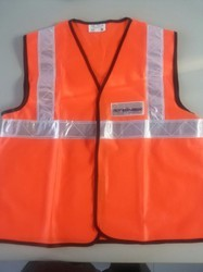 Orange, Green Unisex Reflective Jacket, Gsm: 75 To 90
