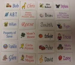 Tafeta Printed Labels
