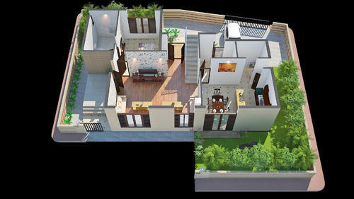 Architectural services isometric 3d floor plan services for Turn floor plan into 3d model