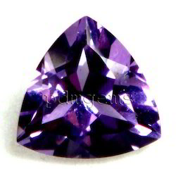 Amethyst Faceted Trillion Gemstone