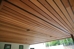 Wood Finish Linear Ceiling