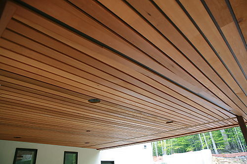 Wood Finish Linear Ceiling Roofing And False Ceiling
