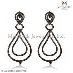 Handmade Designer Diamond Filigree Earring