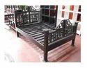 Rajasthani Carved Wood Bed Frame