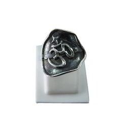925 Silver Om Ring