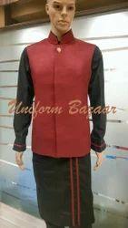 Designer Steward Uniform In Red Colour