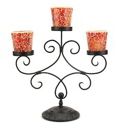 Iron Table Candelabra