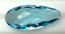 Sky Blue Topaz Faceted Pear Briolette Gemstone