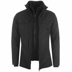Polyester Black Mens Designer Jacket