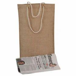 Brown Jute Newspaper Bag